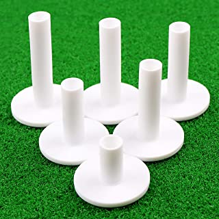 Champkey SDR Rubber Golf Tees Pack of 6 (7 More Durable & Stable Rubber Practice Tees Ideal for Golf Practice Mat