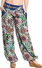 ufash Haremshose Pumphose im italienischen Design, mit passendem Stoffgürtel, 100% Baumwolle, Unisex für Männer & Frauen -...