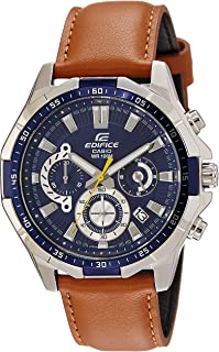 Casio Edifice Men's Navy Dial Leather Band Watch - EFR-554L-2AVUDF