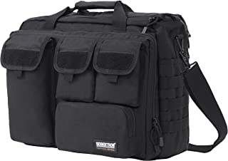"Seibertron Pro- Multifunction Mens Military Tactical Outdoor Shoulder Messenger Laptop Bag Handbags Briefcase Satchel Crossbody Sling Case Large Enough For 14.1"" 14.1-Inch Black"