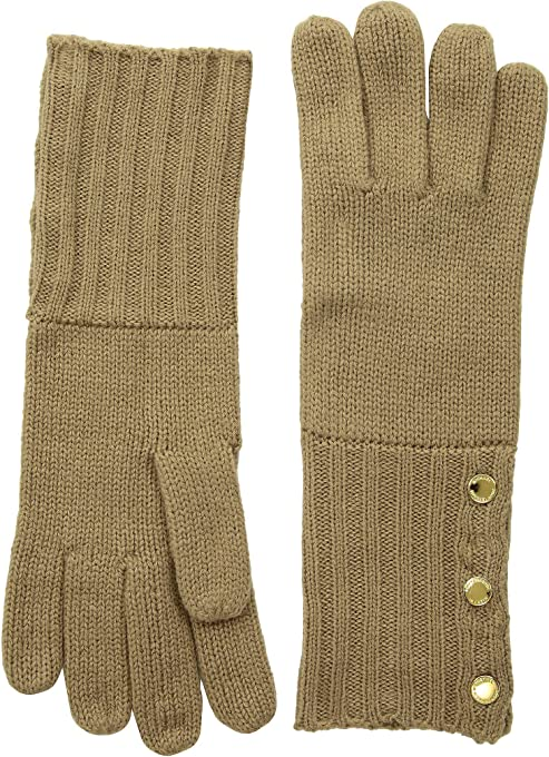 MICHAEL Michael Kors Women`s Ribbed Cuff Knit Gloves