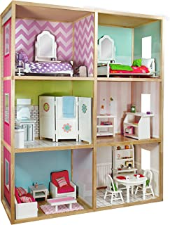 My Girl's Dollhouse for 18'' Dolls - Modern Home Style