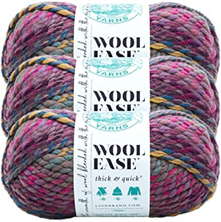(3 Pack) Lion Brand Yarn 640-611 Wool-Ease Thick and Quick Yarn, Astroland
