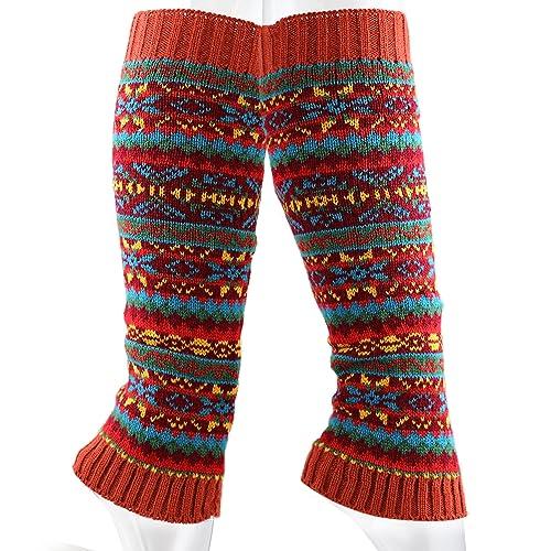 91ffce3bec4 The Hat Depot 700lw-w21 Women s Knit Fair Isle Leg Warmer-6colors