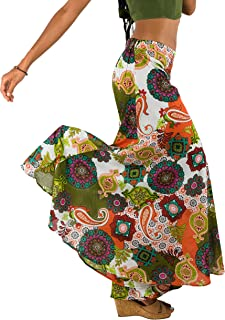 Women's Wide-Leg Cotton Palazzo Pants Multicolored