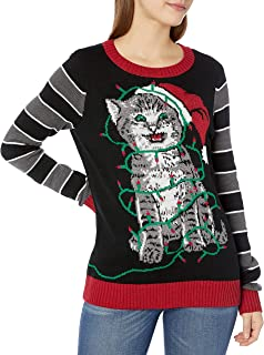 Ugly Christmas Sweater Company Women's Assorted Light-up Pullover Xmas Sweaters with Multi-Colored Led Flashing Lights
