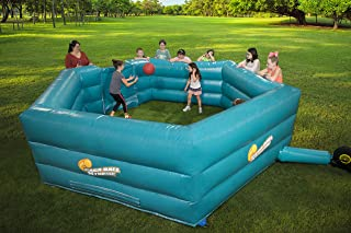 SCS Direct Gaga Ball Pit Inflatable 15' Gagaball Court w Electric Air Pump - Inflates in Under 3 Minutes - Indoor & Outdoor Gift, Recess/Playground Accessories