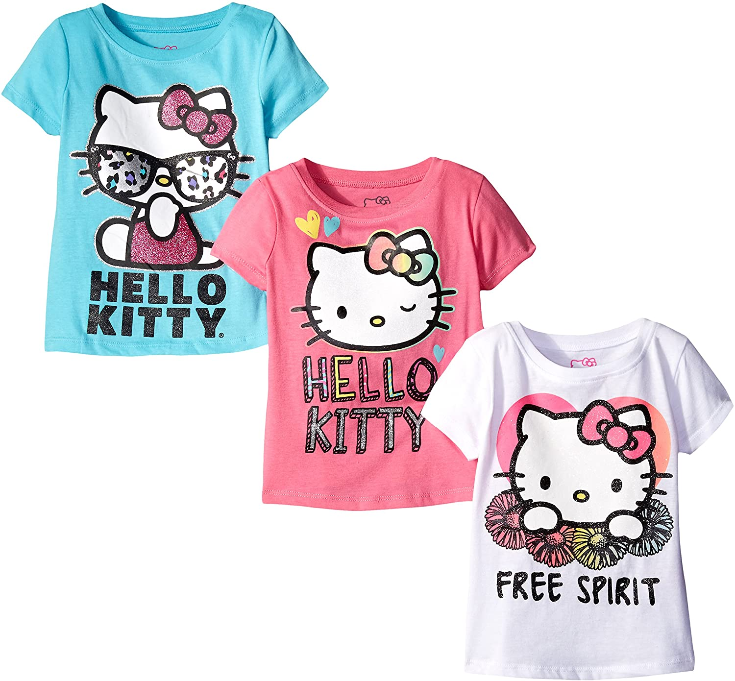 Hello Kitty Girls Value Pack Tee Shirts