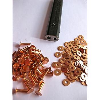 50 rivets en cuir outil de fixation de calibre 10/x 1.3 cm/pour pochettes ventrales en cuir.