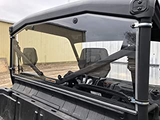 A&S AUDIO AND SHIELD DESIGNS 2016-2020 CAN-AM DEFENDER REAR 1/4 STANDARD POLYCARBONATE WINDSHIELD