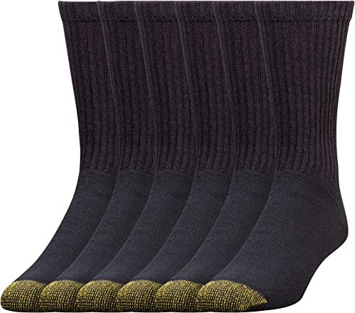 Gold Toe Men's 656s Cotton Crew Athletic Sock MultiPairs