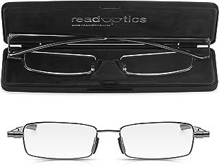 comprar comparacion Gafas de Lectura Vista READ OPTICS Plegables | Hombre y Mujer. Sistema Estuche muy Delgado Patentado. Funda Compacta- de B...