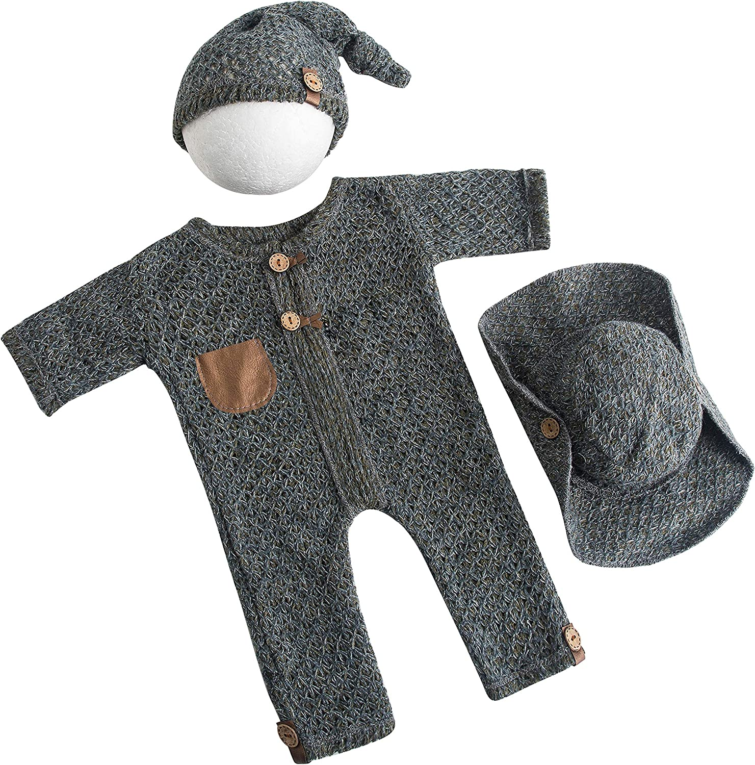Newborn Photo Japan's largest assortment Props Daily bargain sale Outfits Baby Knit Prop Outfit Phot Boy
