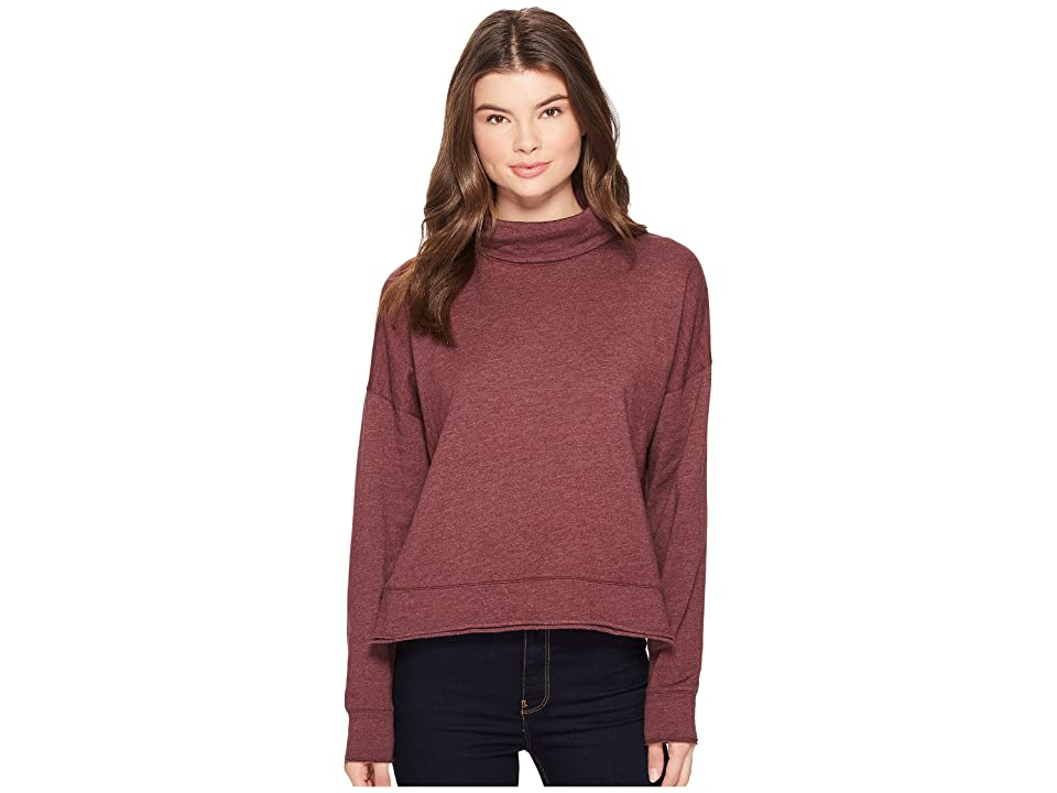 Three Dots Fleece Sweatshirt (Shiraz) Women