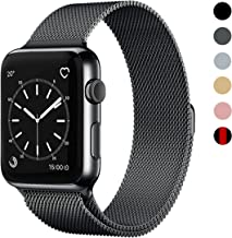 OSUVOX Compatible for IWatch Band, 38mm/40mm 42mm/44mm, Stainless Steel Loop Magnetic Band Compatible with Iwatch Series 4/3/2/1 (Gray, 38mm/40mm)