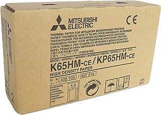MITSUBISHI K65HM-CE/ KP65HM-CE Rollos de papel térmico de alta densidad para impresoras médicas - tamaño A6 (110mm x 20m)