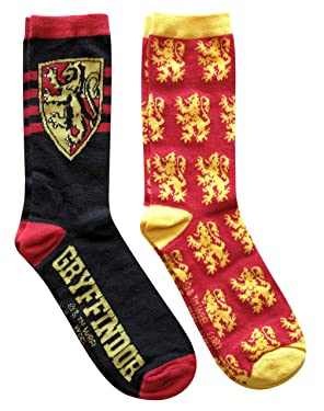 Hyp Harry Potter Gryffindor Logos 2 Pack Casual Crew Socks 6-12