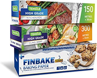 Bundle - 3 Items: Tensile Foil, Cling Wrap and Finbake Baking Paper