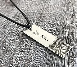 Personalized Gift Custom Handwriting Necklace Personalized Signature Fingerprint Jewelry