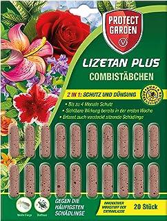 PROTECT GARDEN Lizetan Plus Combistäbchen Schädlingsfrei gegen Blattläuse und andere saugende Schädlinge und Premium-Dünger in Einem, 20 Stück