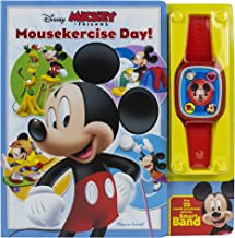 Disney Mickey & Friends - Mousekercise Day! Board Book with Interactive Smart Band - PI Kids