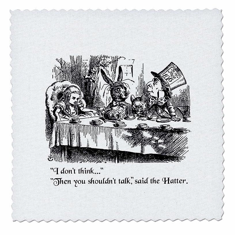 3dRose Alice in Wonderland White Rabbit. Im Late-John Tenniel Illustration-Quilt Square, 14-inch (qs_193791_5)