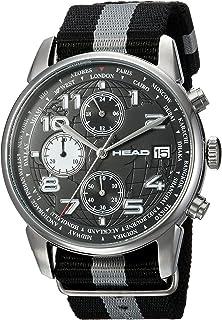 HEAD Unisex-Adult Quartz Watch, Analog Display and Textile Strap