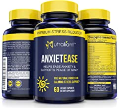 #1 Anxiety Relief Supplements - Stress Relief Pills - B Vitamins, GABA, Ashwagandha, Chamomile + Best Nootropic Formula Capsules to Fight Worry + Panic Attacks & Enhance Positive Mood & Peace of Mind