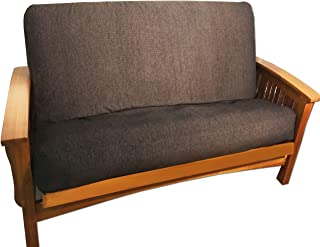 LifeStyle Exclusives Luxury Full Size Futon Cover Fits Mattress 54 by 75 up to 6 to 8 Inches Thick (Coffee Bark)