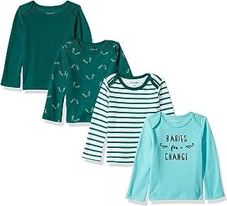 Hanes Girls' Ultimate Baby Flexy 4 Pack Long Sleeve Crew Tees