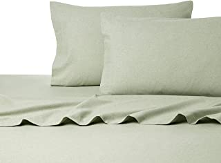 La Rochelle Heathered Solid Flannel Sheet Set, California King, Sage