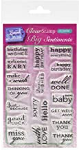 Personal Impressions Clear Stamps - Big Sentiments by Paula Pascual