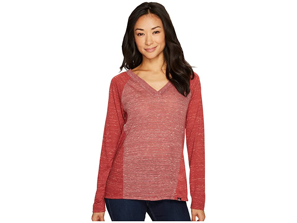 Prana Jinny Top (Woodland Red) Women's Long Sleeve Pullover