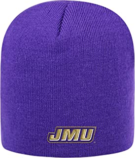 Top of the World James Madison Dukes Official NCAA Uncuffed Knit Classic Beanie Stocking Stretch Sock Hat Cap 260105
