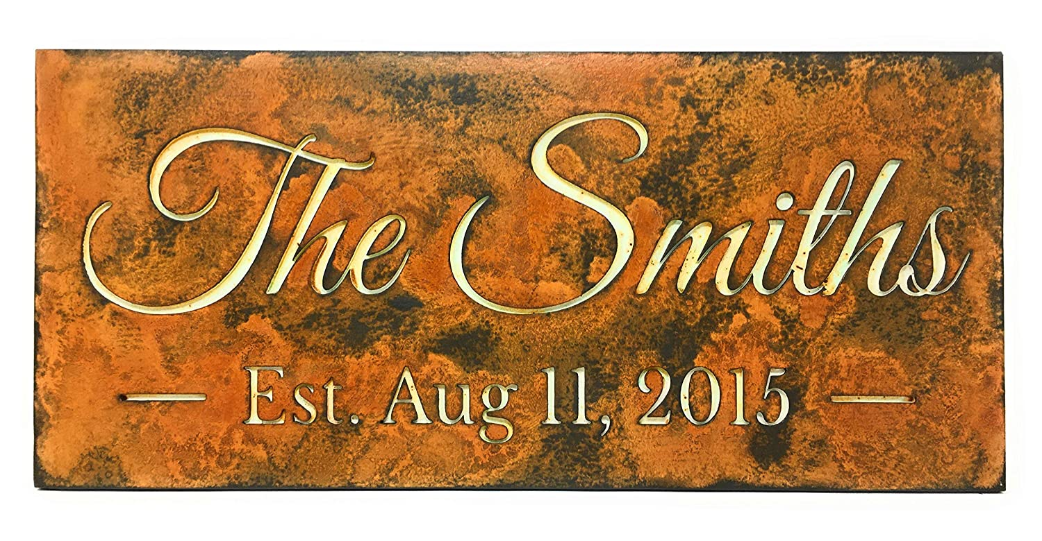 Personalized Wedding sign.Rust National uniform free shipping Tampa Mall family sign.We Patina.Established
