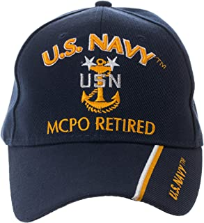 Officially Licensed US Navy Retired Baseball Cap - Multiple Ranks!
