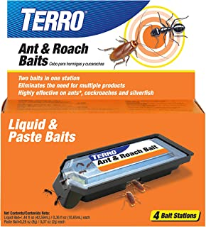 Terro T360, 1 PACK Ant and Roach Bait Stations, Black
