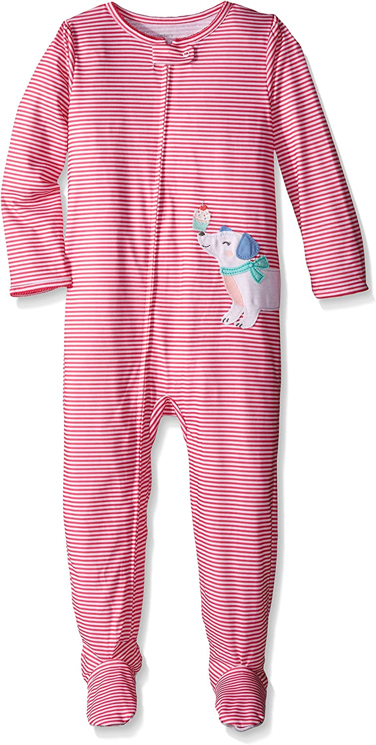 Carter's Little Girls' Striped Limited price Dealing full price reduction sale Graphic wi Toddler Dog Footie -