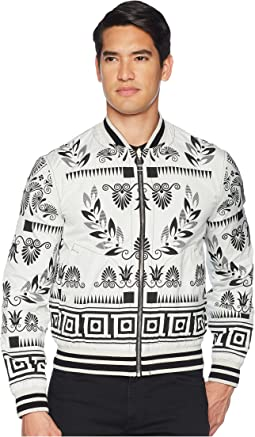 Versace Collection Reversible Floral Print Bomber