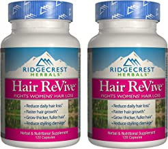 Ridgecrest Herbals Hair Revive, Hair Growth Support,120 Capsules (2 Pack)