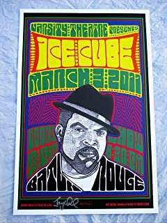 2011 3/3 Ice Cube Concert Poster Autographed by Artist Baton Rouge