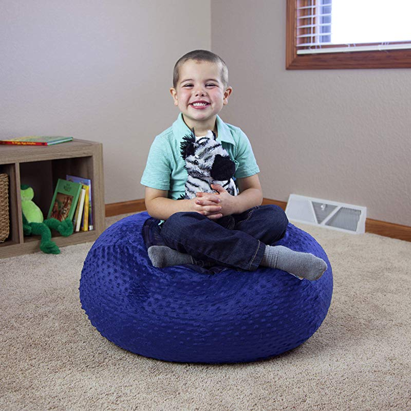 FILO Stuffed Animal Bean Bag Chair For Kids Large 30 Blue Toy