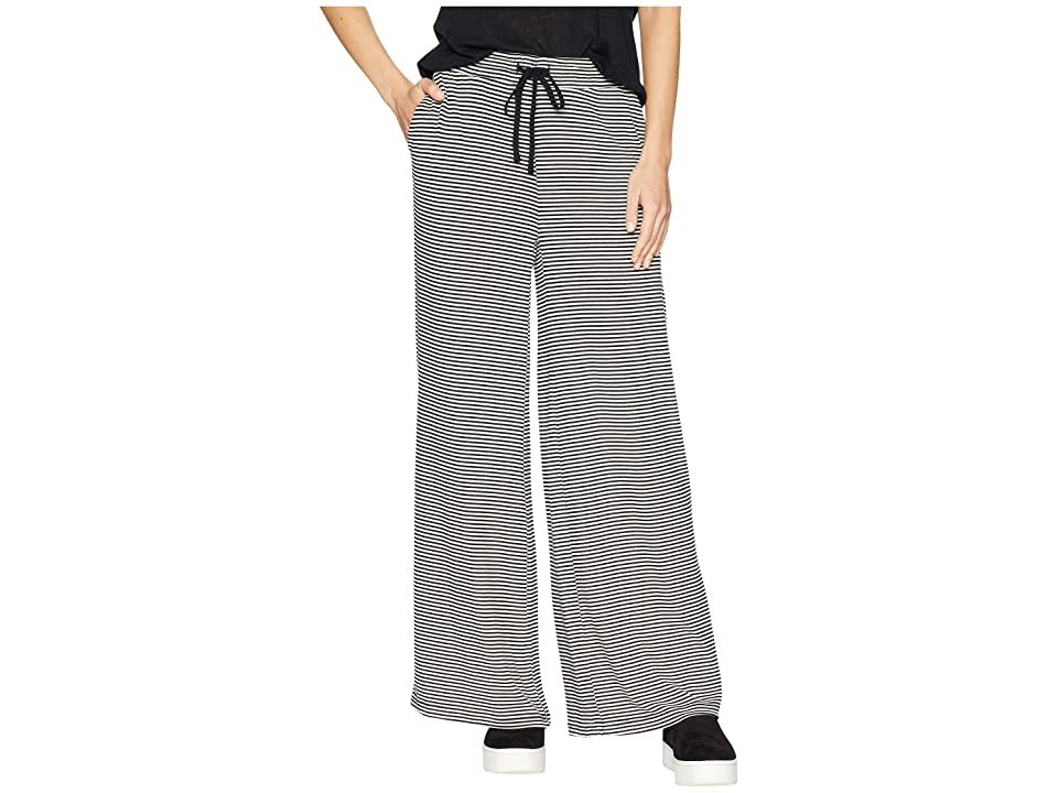 BB Dakota Stripe Dreams Striped Sweater Knit Wide Leg Pants (Black) Women