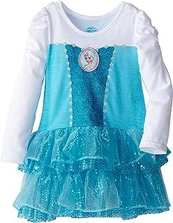 Girls' Frozen Knit Dress with Cape
