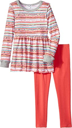 Stripe Print Sweater Set (Toddler)