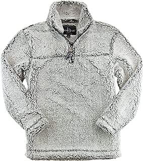 Adult Super Soft 1/4 Zip Sherpa Pullover-Smokey Grey-XXXL