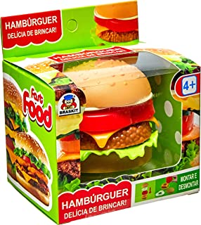 Brincando De Casinha Fast Food Hamburguer Braskit Multicor