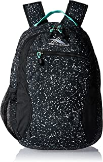 High Sierra Curve Backpack, Speckle/Black/Aquamarine