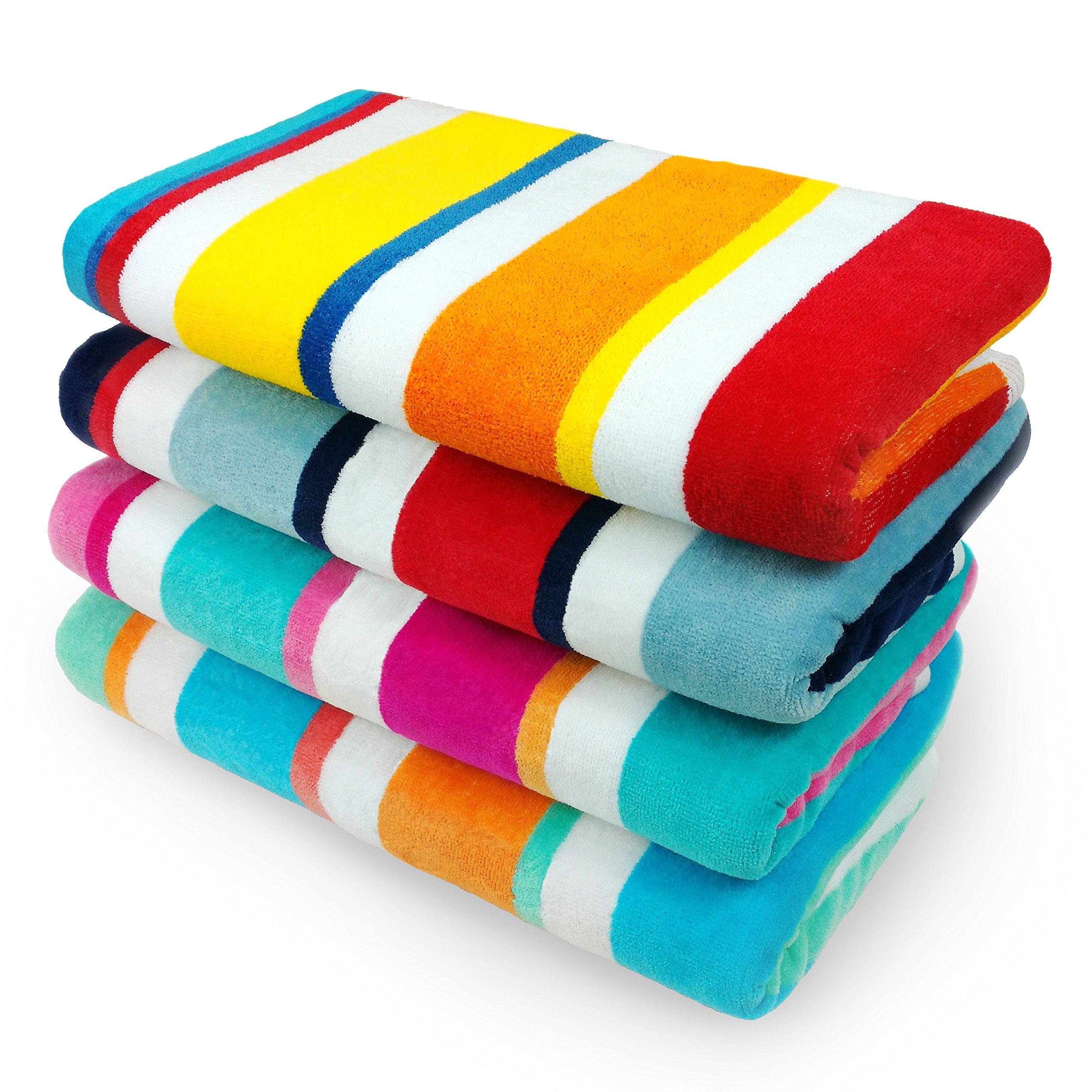 KAUFMAN Cotton Multicolor Cabana Stripe