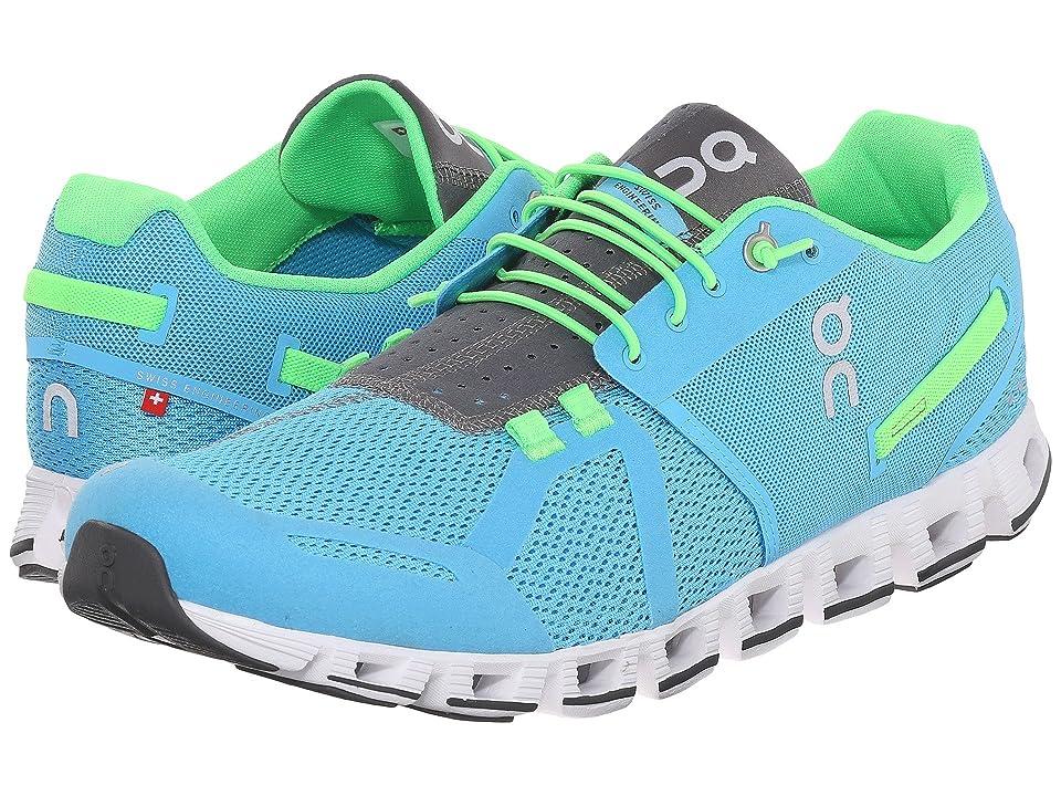 On Cloud (Diver/Lime) Men's Running Shoes, Blue